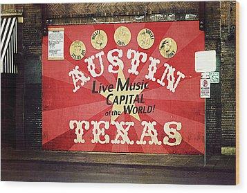 Austin Live Music Wood Print