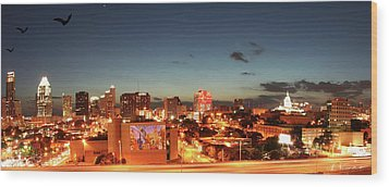 Austin Night Wood Print