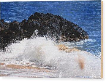 Australia Beach 2738 Wood Print by PhotohogDesigns
