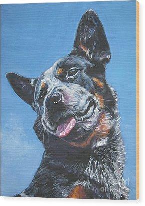 Australian Cattle Dog 2 Wood Print by Lee Ann Shepard
