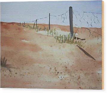 Australian Outback Track Wood Print by Elvira Ingram