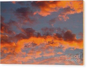 Australian Sunset Wood Print by Louise Heusinkveld