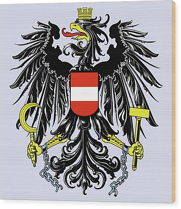 Wood Print featuring the drawing Austria Coat Of Arms by Movie Poster Prints