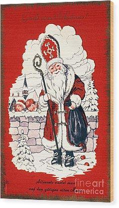 Austrian Christmas Card Wood Print by Granger