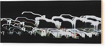 Wood Print featuring the photograph Auto Curve by Cyryn Fyrcyd