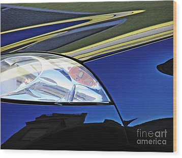 Auto Headlight 190 Wood Print by Sarah Loft