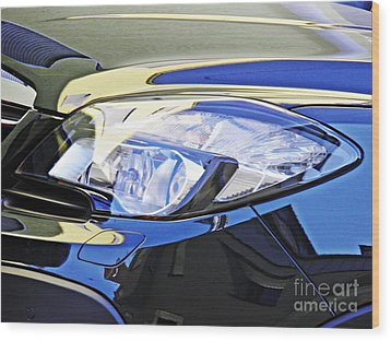 Auto Headlight 191 Wood Print by Sarah Loft
