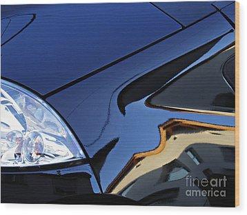 Auto Headlight 192 Wood Print by Sarah Loft