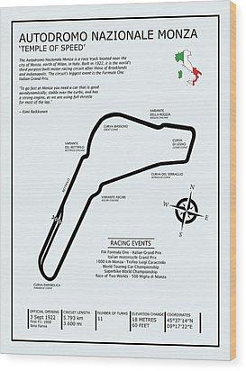 Autodromo Nazionale Monza Wood Print by Mark Rogan