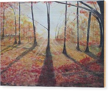 Automn Light Wood Print