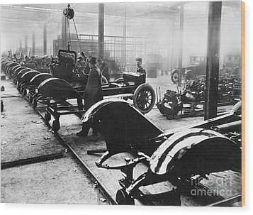 Automobile Manufacturing Wood Print by Granger