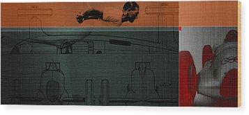 Autounion 1 Wood Print by Naxart Studio