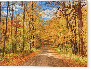 Autum Wood Print