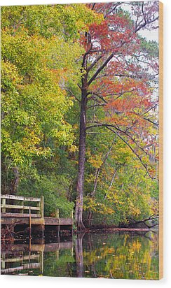 Wood Print featuring the photograph Autumn Along Brices Creek by Bob Decker