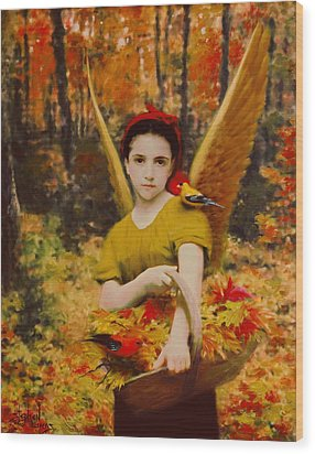 Autumn Angels Wood Print by Stephen Lucas