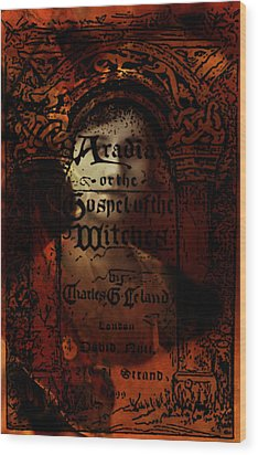 Autumn Aradia Witches Gospel Wood Print by Rebecca Sherman