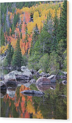Wood Print featuring the photograph Autumn At Bear Lake by David Chandler