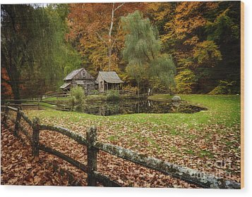 Autumn At Cuttalossa Farm V Wood Print