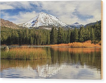 Wood Print featuring the photograph Autumn At Mount Lassen by James Eddy
