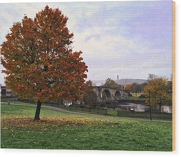Autumn At Stirling Bridge Wood Print by RKAB Works
