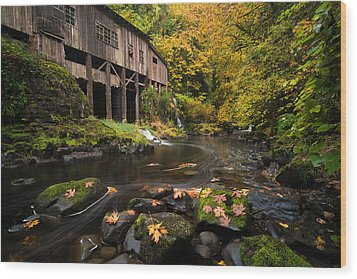 Wood Print featuring the photograph Autumn At The Grist Mill by Brian Bonham