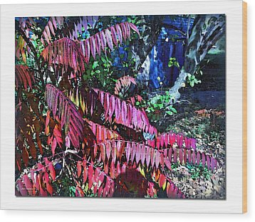 Wood Print featuring the photograph Autumn At The Taverne by Joan  Minchak