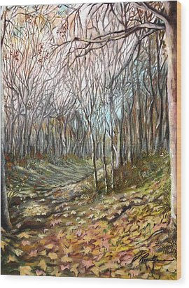 Autumn - Automne Wood Print