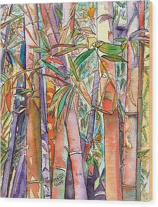 Autumn Bamboo Wood Print by Marionette Taboniar