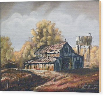 Autumn Barnyard Wood Print