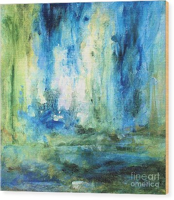 Wood Print featuring the painting Spring Rain  by Laurie Rohner