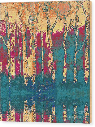 Autumn Birches Wood Print by Holly Martinson