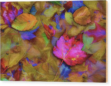 Autumn Breeze Wood Print
