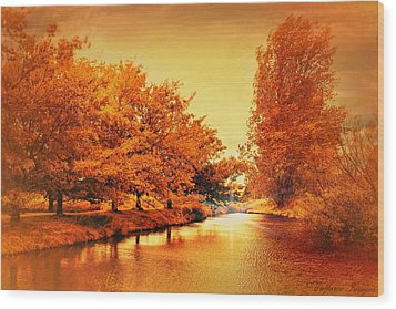 Autumn Breeze Wood Print by Wallaroo Images