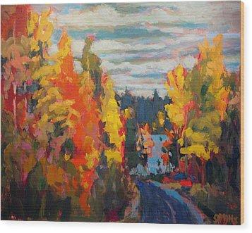 Autumn Wood Print by Brian Simons