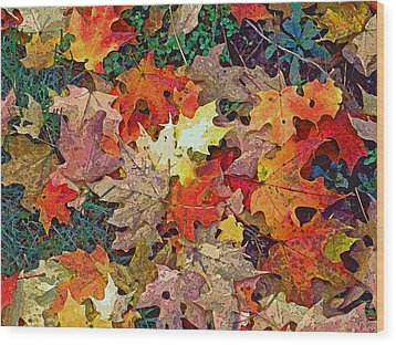 Autumn Carpet Wood Print