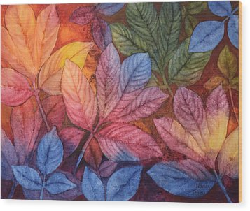 Autumn Color Wood Print by Nancy Jolley