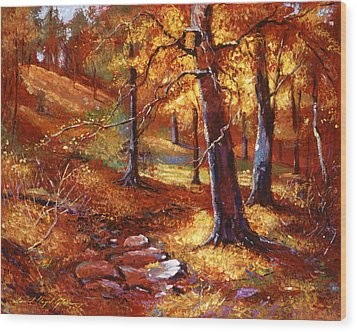 Autumn Color Palette Wood Print by David Lloyd Glover
