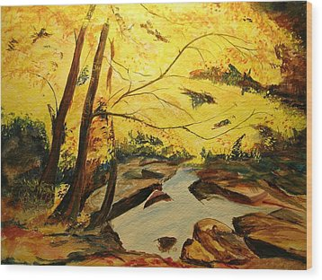 Autumn Colours Wood Print by Lizzy Forrester