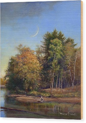 Autumn Crescent Wood Print by Wayne Daniels
