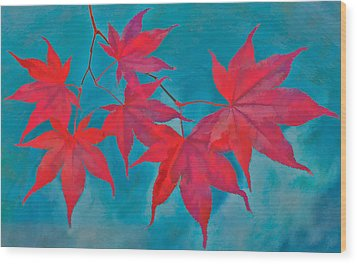 Autumn Crimson Wood Print by William Jobes