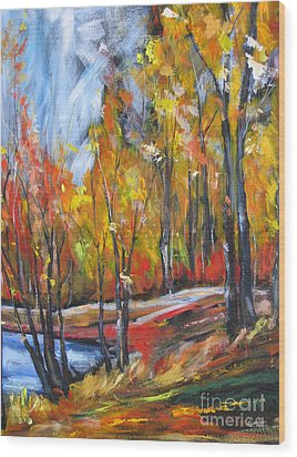 Wood Print featuring the painting Autumn by Debora Cardaci