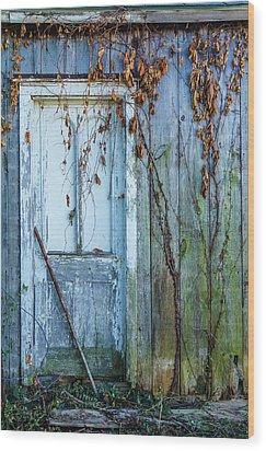 Autumn Door Wood Print