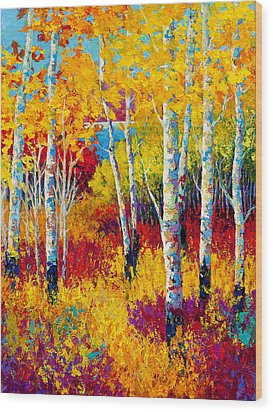 Autumn Dreams Wood Print by Marion Rose