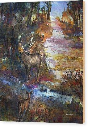 Autumn Encounter Wood Print