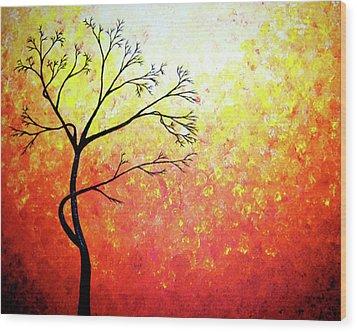 Autumn Evening Wood Print by Daniel Lafferty