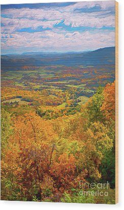 Autumn Fall Colors In The Arnold Valley Ap Wood Print by Dan Carmichael