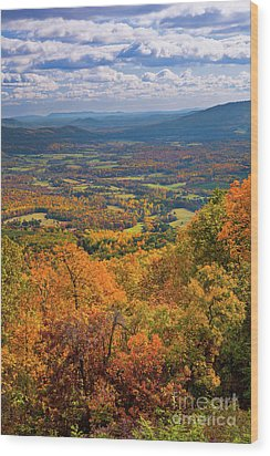Autumn Fall Colors In The Arnold Valley Wood Print by Dan Carmichael