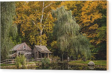 Autumn Farm Wood Print by Glenn DiPaola