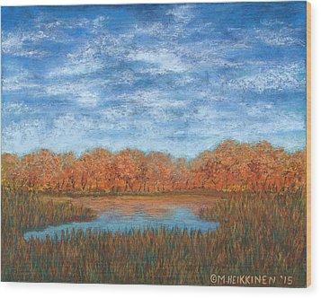 Autumn Field 01 Wood Print