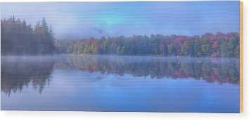 Wood Print featuring the photograph Autumn Fog Lifting by David Patterson